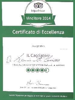 Certificato di Eccellenza Tripadvisor 4.5!